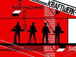 La copertina dell' album the man machine dei Kraftwerk