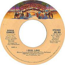 Il vinile di I feel love di Donna Summer