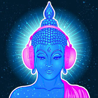 Buddha listening to trance