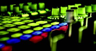 Fluo console with black background